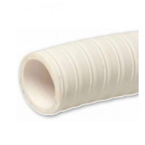 Zuig / persslang rond 19x25mm PVC wit met spiraal